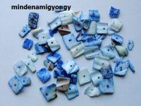 Festett kagylógyöngy 25g - kék