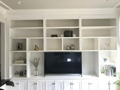 progress on family room  Finding beauty mom  Bookshelves with TV Bookshelf styling Home accents Family room