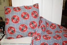 """Hand made Coca Cola pillow 18"""" x 21"""" and cover 46.5"""" x 42"""" never used $25"""