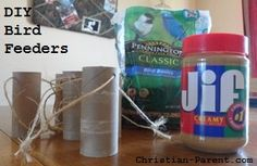Easy DIY bird feeder you can make with your Cub Scout den. Link to free downloadable bird printables included.