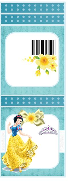 Snow White: Free Printable Matchbook Favors.