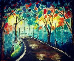 40x50 Olipainting, Ölmalerei #oilpainting #buntenacht #colorfunight #lightinthedark #ölmalerei