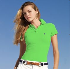 ralph lauren outlet online Women\u0026#39;s Classic-Fit Short Sleeve Polo Shirt Lime http:/