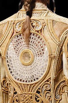 Back detail from Balmain at Paris Fashion Week spring summer 2013.