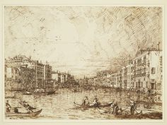 Canaletto (Venice 1697-Venice 1768), Venice: The Central Stretch of the Grand Canal, c.1734. Pen and ink, over ruled pencil and pinpointing, 27.0 x 37.5 cm, RCIN 907471, Royal Collection Trust/ © Her Majesty Queen Elizabeth II 2016