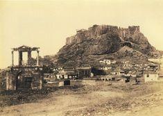 ΠΥΛΗ ΑΔΡΙΑΝΟΥ & ΑΚΡΟΠΟΛΗ Αθήνα 1851 Φωτογραφία: Alfred Nicolas Normand [γεν. 1.6.1822-†2.3.1909]