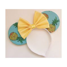 Pineapple Mouse Ears by ShopHouseOfMouse on Etsy, $25.00