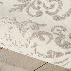 Damask rugs das03 in ivory by nourison buy online from the rug seller uk