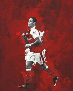 Alexis Sanchez of Arsenal wallpaper. Football Design, Football Art, Sport Football, Arsenal Fc, Arsenal Football, Good Soccer Players, Football Players, Arsenal Wallpapers, Alexis Sanchez