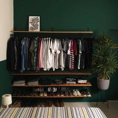 Room Makeover, Aesthetic Room Decor, Room Ideas Bedroom, Room Design, Minimalist Room, Open Closet, Closet Designs, Small Room Bedroom, Build A Closet
