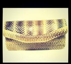 my baby (^_−)−☆ Vintage grey snakeskin purse....I take her everywhere....(^O^☆♪