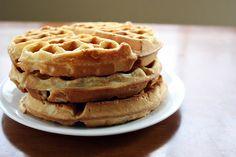 Art of Dessert: Best Vegan Waffles Ever 3 cups flour 2 Tbs baking powder  1-2 Tbs sugar (optional) 1/2 tsp. salt 3 cups rice milk 1/3 cup orange juice 1/3 cup vegetable oil 1 tsp. vanilla extract