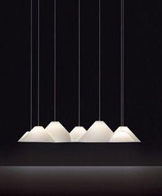 Frederik Roijé 6 Peaks Lampscapes Off White now featured on Fab. Interior Lighting, Home Lighting, Lighting Design, Pendant Lighting, Chandelier, Luminaire Design, Lamp Design, Light In, Lamp Light