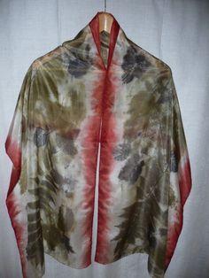 """Für die Aktion KunstRaub 2 habe ich diesen Schal gefertigt. Als Inspirationsquelle wurde das Herbstlied """"Bunt sind schon die Wälder"""" gewählt.  D..."""