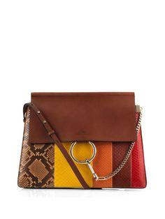 Faye python and leather shoulder bag | Chloé | MATCHESFASHION.COM UK | #MATCHESFASHION