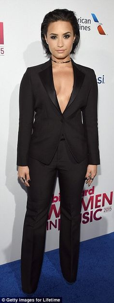 Ciara and Demi Lovato take the plunge in cleavage-baring outfits at Billboard's Women In Music event | Daily Mail Online