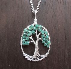 No More Fear Mini Wire Tree of Life Necklace in by HomeBabyCrafts