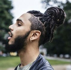 Man Bun with Undercut - Dread Fade Haircut
