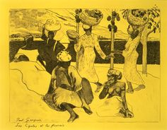 Paul Gauguin: The Grasshoppers and the Ants: A Souvenir of Martinique, from the Volpini Suite: Dessins lithographiques (22.82.2-4)   Heilbrunn Timeline of Art History   The Metropolitan Museum of Art