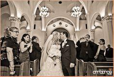 Ceremony at St. Patrick's Church #bride #groom #kiss #wedding #ceremony