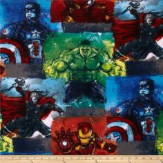 Marvel Comics Fleece Avengers Sketch Blue