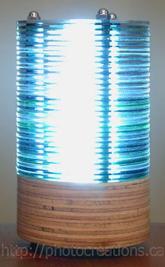 How to make a lamp from CDs