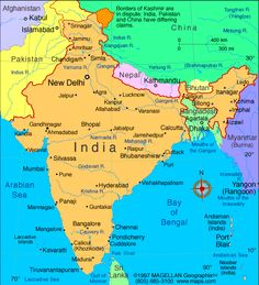 Physical Map Of India Map Of India With States In 2019 Pinterest