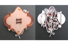 Rebecca Hannon: Photo 'Cornice' brooch, front and back, Jewelry Boards, Metal Jewelry, Jewelry Shop, Jewelry Art, Vintage Jewelry, Jewelry Design, Contemporary Jewellery, How To Make Beads, Artisan Jewelry