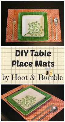 Hoot & Bumble: DIY Placemats- Easy Beginner Sewing Project