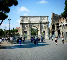 Arch of Constantine in the Roman Forum in Rome, Italy #italy #rome #romanforum #archofconstantine #travelbug #europe #ruins