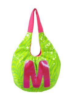 Sequin Zebra Initial Hobo Bag | Fashion Bags | Bags & Totes | Shop Justice