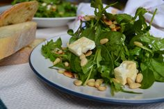Feta and beetroot go great together and this very simple recipe lets the two main ingredients shine through.   #feta #rocket #salad #beetroot #saladdressing #pinenut #vinegrette Beetroot, Seaweed Salad, Salad Dressing, Feta, Spinach, Salads, Easy Meals, Vegetables, Salad