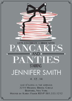 Pancakes and Panties Bridal Shower Invitation