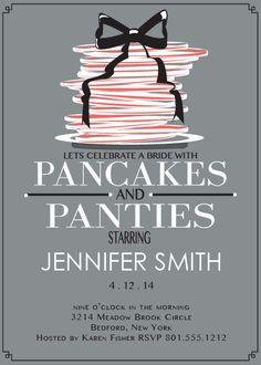 Pancakes and Panties Bridal Shower Invitation