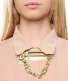 Chain Lock Necklace by BOND Hardware.