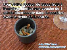 utilisez du bicarbonate de soude pour éliminer l'odeur de tabac froid