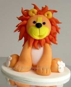 Leopold Lion Cake Topper in fondant  Cake by MelSugarMama....Now all you would need is a lamb and you have a religious holiday :)