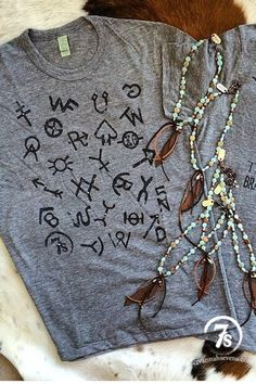 The Brands (t-shirt) – ranching cattle brand t-shirt from Savannah Sevens Western Chic