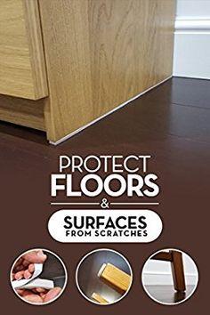 SIMALA Premium Furniture Pads 124 Piece Multi Use Bundle. 60 Heavy Duty  Self Stick Felt Pads For Hardwood Floor Protection (Moving Pads / Chair  Glides) U0026 64 ...