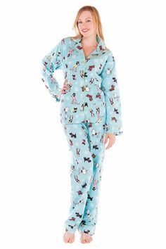 PJ Salvage Dog Day Flannel Pajama Set : Think Her | PJ Salvage ...