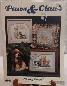 """Vintage Paws And Claws Cross Stitch Patterns 13 Patterns 3"""" to 7"""" by Stoney Creek by LouisandRileys on Etsy"""