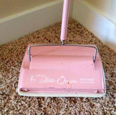 Pink Amsco Bissell Vintage Sweeper by DeuxAmies on Etsy, $21.97