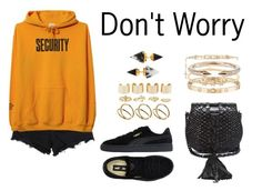 """""""Don't Worry"""" by anaelle2 ❤ liked on Polyvore featuring Alexander Wang, Puma, Yves Saint Laurent, Charlotte Russe, Maison Margiela, ASOS, Vita Fede, Cartier, Hulchi Belluni and Givenchy"""