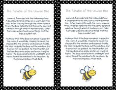 Parable of the Unwise Bee