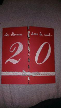 carte invitation anniversaire : Carte invitation anniversaire 20 ans - Carte Anniversaire - Carte Anniversaire