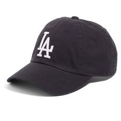 Women's American Needle 'Los Angeles Dodgers' Baseball Cap ($24) ❤ liked on Polyvore featuring accessories, hats, black, adjustable baseball hats, logo hats, la dodgers baseball cap, adjustable baseball caps and ball cap hats