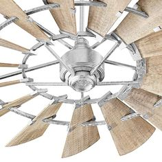 Buy the Quorum International Galvanized Direct. Shop for the Quorum International Galvanized 15 Blade Ceiling Fan with Wall Control and save. Windmill Ceiling Fan, 60 Ceiling Fan, Ceiling Fan Makeover, Ceiling Fan With Remote, Windmill Diy, Wooden Windmill, Modern Ceiling, Ceiling Decor, Led Ceiling