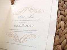 Convite de casamento de Design Com Texto | Foto 6