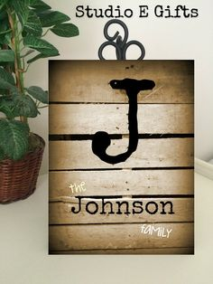 FAMILY MONOGRAM SIGN  Last Name Sign  Ready to by StudioEGifts