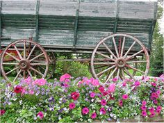 Wagon and Flowers